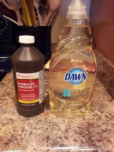 Armpit Stain Remover: 1 tsp. Dawn dishwashing liquid; 2 TBs hydrogen peroxide; 1 TB baking soda. Use a brush to scrub in. Wait 1 hour (I leave it on longer), then wash with hot water and bleach, if possible.