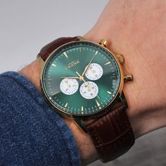 Greet spring the way it deserves - in a Montpellier green chronograph.⌚️ #grandfrankwatches   www.Grandfrank.com
