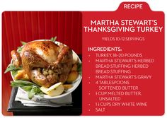 Martha shares her favorite Thanksgiving turkey recipe, only on mblog.macys.com