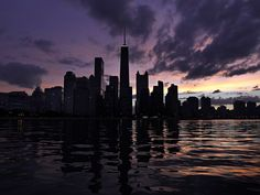 The sun sets behind the Chicago skyline as viewed from Lake Michigan. — Brian Cassella, Chicago Tribune, Aug. 16, 2012
