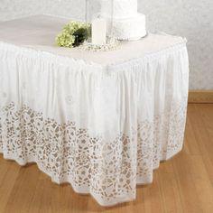 Swirl Organza Ruffled Table Skirts Mamarazzi Pinterest