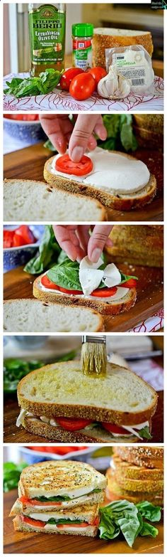 Grilled Margherita Sandwiches- I wana try this!!