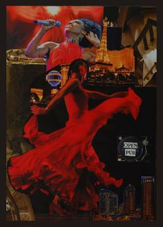 Collage on paper, Title Free red music Paper, Music, Red, Movie Posters, Movies, Painting, Collage, Musica, Musik