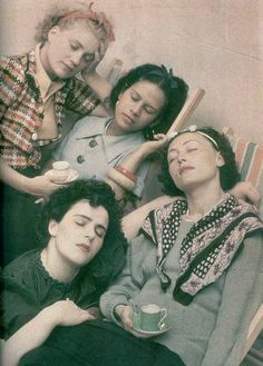 Miller, Fidelin, Eluard, Carrington, 1954, Private collection Photo: Roland Penrose
