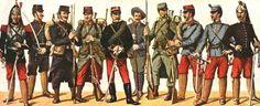 Frankrijk -> op het plaatje zie je de uniformen die ze droegen in de eerste wereldoorlog -bondgenootschappen -> de Geallieerden