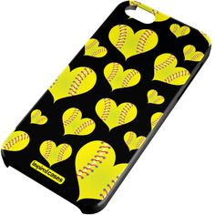 Inspired Cases Softball Heart Pattern Case for iPhone 6 Inspired Cases