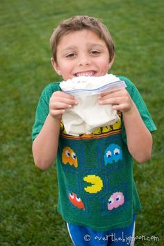 A Camping Treat! Homemade ice cream in a bag, takes 5 minutes!