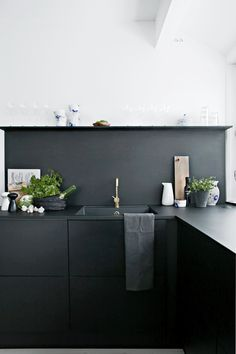 Black is a great neutral - it's bold, but also pairs well with all kinds of colors and textures.