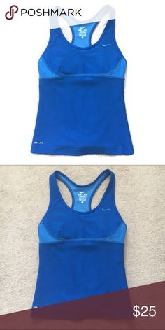 Nike mesh workout tank Perfect condition with built in bra! Nike Tops Tank Tops