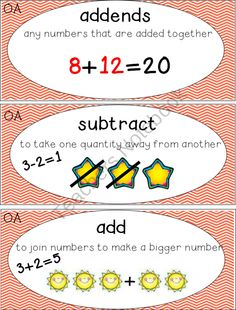 First Grade Math Words product from Teaching-is-Colorful on TeachersNotebook.com