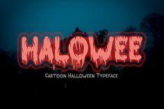 HALOWEE - Halloween Horror Font #halloweenfont #halloweentypeface #halloweenthemed Halloween Fonts, Halloween Cartoons, Halloween Banner, Halloween Horror, Halloween Cards, Halloween Themes, Spooky Font, Cartoon Font, Horror Font