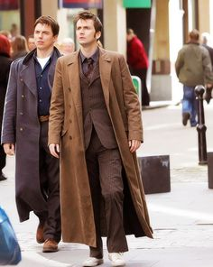 Doctor Who (David Tennant, the 10th Doctor) and Captain Jack Harkness (John Barrowman) in Their Fabulous Coats