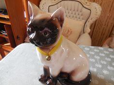 Siamkatze, Porzellan, Höhe 27 cm, Deko, Länge 20 cm, ohne Fehler, gebraucht…