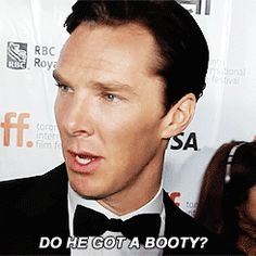 (Gif) what???? Lol... Need to research & find the interview this came from. I love how playful he is! :-)