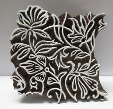 INDIAN WOODEN HAND CARVED TEXTILE FABRIC PRINTER BLOCK STAMP PRINT PATTERN