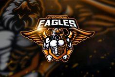 Eagle - Mascot & Esport Logo by aqrstudio on Envato Elements Team Logo Design, Mascot Design, Logo Design Template, Logo Templates, Eagle Mascot, Eagle Logo, Pet Logo, Coreldraw, Monogram Logo