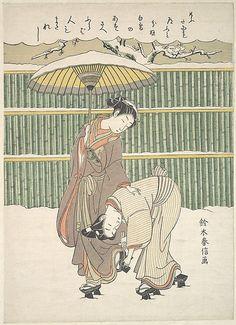 Suzuki Harunobu (Japanese, 1725–1770).  snow scene. ca. 1768.