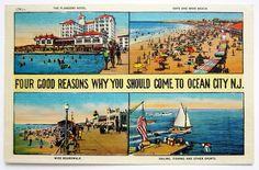97 Best Vintage Ocean City Nj Postcards And Photos Images
