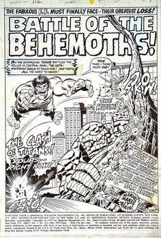 Fantastic Four 112 splash page art by John Buscema and Joe Sinnott