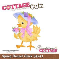 CottageCutz Spring Bonnet Chick (4x4)