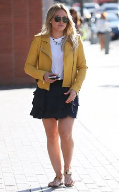 Hilary Duff from The Big Picture: Today's Hot Pics The singer-actress is spotted rocking her spring style in Beverly Hills.