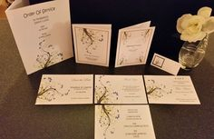 10 BLOSSOM Invitation/Save the date/Order of Service All Occasions