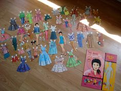 Vintage 1950s Paper Dolls Annette Funicello 2013482 by bycinbyhand, $18.00