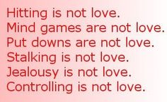 Domestic Abuse comes in more forms than just hitting. All of it does not belong in a loving relationship.