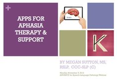 Resources for SLP on Apps for Adult Speech Therapy, Aphasia, & iPads