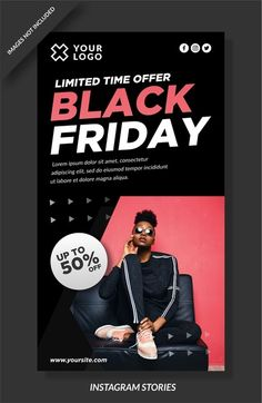 Black friday stories and social media post. Download it at freepik.com! #Freepik #vector #banner #sale #marketing Illustration Story, Instagram Story, Black Friday, How To Draw Hands, Banner, Social Media, Marketing, Banner Stands, Hand Reference