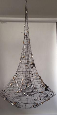 Make a big statement … with Marie Christophe's Eiffel Towering single-spotlight chandelier for Jean-Louis Deniot! www.lisafontanarosa.com
