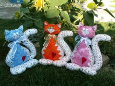 šavi patchwork - Fotoalbum - 1) Moje šití (My handworks) - Kočky, zvířátka a hračky (Cats and toys)