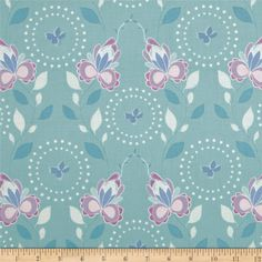 Hot House Flowers Floral Spray Blue from @fabricdotcom  Designed by Mo Bedell for Andover Fabrics, this fabric is perfect for quilting, apparel and home decor accents. Colors include white, blue, orchid, lavender and aqua blue.