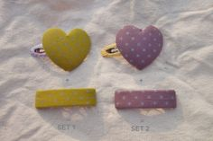 Mom & daughter couple Hair clip SET   Heart  by NABISTYLE on Etsy, $13.00