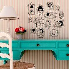 Vinilo Retratos by Lady Desidia ::: Portraits wall decal by Lady Desidia