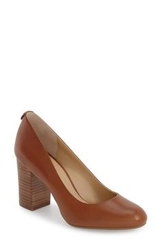 Free shipping and returns on MICHAEL Michael Kors 'Lucy - Flex' Round Toe Pump (Women) at Nordstrom.com. A wardrobe staple, this classic pump features a demure round toe balanced by a stacked half-moon heel for a beautiful finish to any professional or casual outfit.