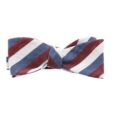 Countess Mara Mens Striped Silk Blend Bow Tie