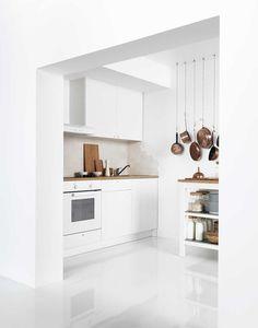 Una cocina en blanco para que dure siempre