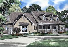 Plan W5994ND: Country, Corner Lot, Traditional House Plans & Home Designs