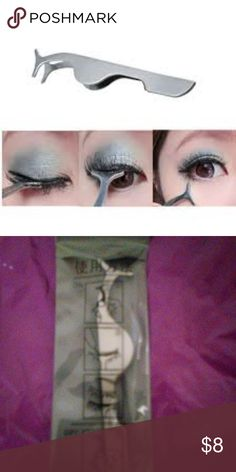 New stainless steel eyelash applicator New in pouch stainless steel eyelash applicator. To apply your false eyelashes with ease Makeup Brushes & Tools