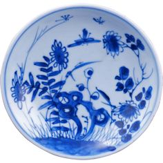 Antique Chinese blue and white porcelain saucer Kangxi period early 18th century - Antique Chinese blue and white porcelain saucer Kangxi period early 18th century $225
