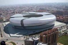 Nou Mestalla. Valencia Club de Fútbol SAD. España. Stadium Architecture, Architecture Design, Real Madrid, Fifa, Paisley Scotland, Sports Stadium, Football Stadiums, Continents, Premier League
