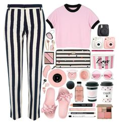 """pink+black+white"" by issuri ❤ liked on Polyvore featuring Puma, Kate Spade, Make, Fujifilm, River Island, Elizabeth Arden, NYX, Christina Debs, Nora Kogan and Melissa Kaye"