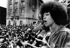Angela Davis (1944 - ) is an American political activist and scholar. She emerged as a nationally prominent activist in the 1960′s as a leader in the push for civil rights of, a leader in the communist party, and is widely known for her affiliation with the Black Panther Party.  Photo credit: Bettmann/Corbis