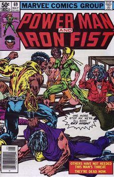 Power Man and Iron Fist Hero for Hire) comic books Dc Comics, Conan Comics, Black Comics, Marvel Comic Books, Comic Books Art, Comic Art, Book Art, Iron Fist Powers, Caricature