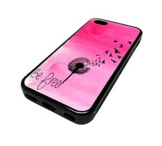 For iPhone 5C 5 C Apple Case Cover Skin Pink Cute Be Free Dandelion Birds Beach Swag DESIGN BLACK RUBBER SILICONE Teen Gift Vintage Hipster Fashion Design Art Print Cell Phone Accessories MonoThings,http://www.amazon.com/dp/B00JELRZ0O/ref=cm_sw_r_pi_dp_qVZotb0VKW634KKS