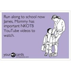 If only I didn't have to be at school teaching too!!!!!!! NKOTB wishes!