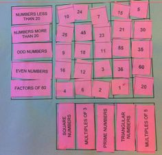 Number puzzle to review multiples, factors, prime numbers, triangular numbers...