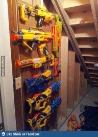 Nerf Gun storage--