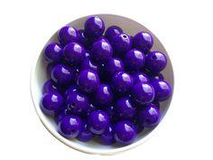 20mm Dark Purple Bubblegum Beads Gumball by TheBeadSupplyShoppe